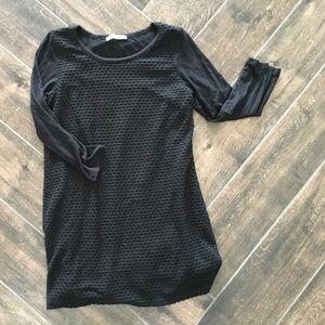 Loveappella Tops - Lovappella black maternity shirt 3/4 sleeve