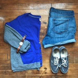 Victoria's Secret Sweaters - 100% Cashmere Blue & Grey Cardigan
