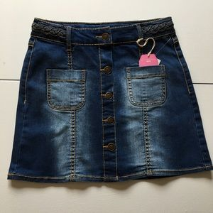 Wallflower Other - NWT Girl's Denim Button Front Skirt