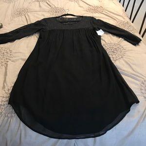 Velvet Dresses & Skirts - Black dress with lace