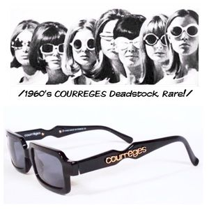 COURREGES Vintage 1960's Sunglasses, Deadstock!