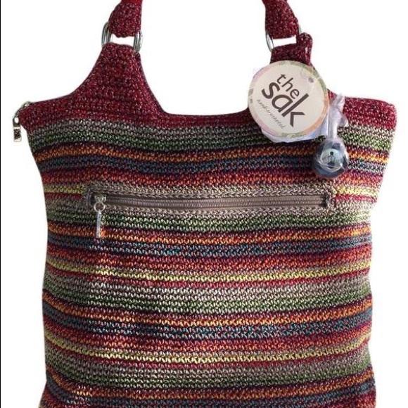 aab919d68d44 ... The Sak Gypsy Stripe Crochet Tote. M 58b9a85556b2d6620f00ac53