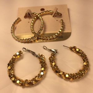 Jewelry - NWT and never worn - two pair of gold earrings