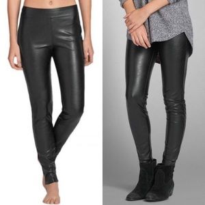 Abercrombie & Fitch Pants - Abercrombie and Fitch 00 Faux Leather Leggings