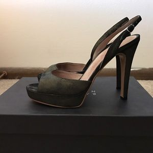 Barneys New York CO-OP Shoes - Barneys New York Brown Suede Slingback Sandals