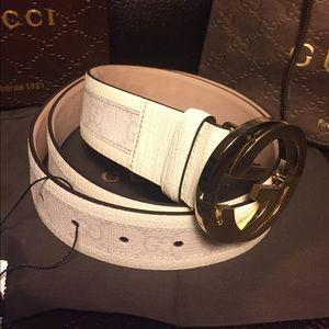 Gucci Other - NWT Authentic Gucci Men's White Monogram Belt