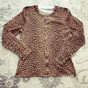 J. McLaughlin Sweaters - Brown J. McLaughlin leopard print cardigan sweater