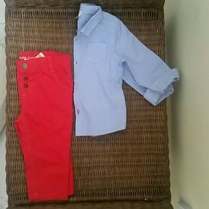 Cyrillus Other - Cyrillus Shirt and Chino for a little gentleman