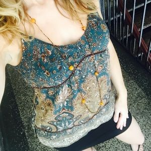 Central Park West Tops - Paisley top by Central Park West