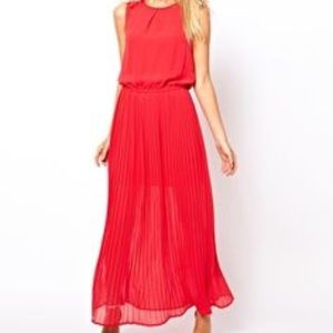 ASOS Dresses & Skirts - Beautiful Oasis Red Maxi Dress with Cut-Out Back