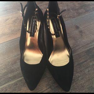 BCBGeneration Shoes - 🛍 SALE! BCBG Black Suede Studded Strap Heels