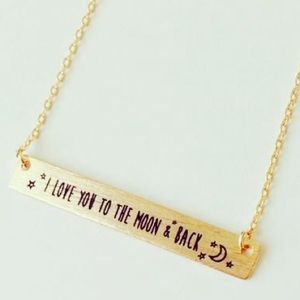 Bar Necklace - Love You To The Moon