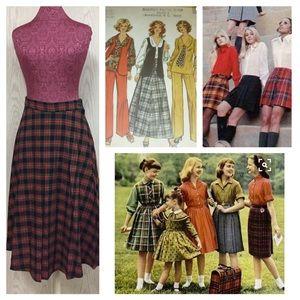 72fd669204 Vintage Skirts | 1960s Plaid Pleated Skirt | Poshmark