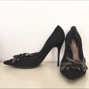 Baldinini Black Suede Stiletto Heel Pointed Toe 7