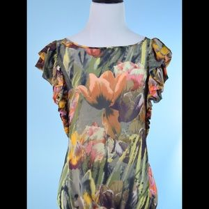 Ted Baker Tops - TED BAKER tulip print blouse top TED SIZE 3 (L)