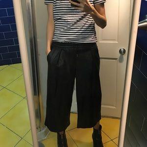 Zara faux leather culottes
