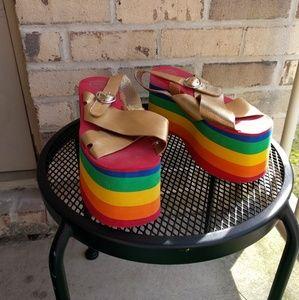 Jeffrey Campbell Shoes - Jeffrey Campbell Rainbow Platform Sandals