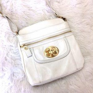 Emma Fox Handbags - Emma Fox White Leather Crossbody w gold hardware