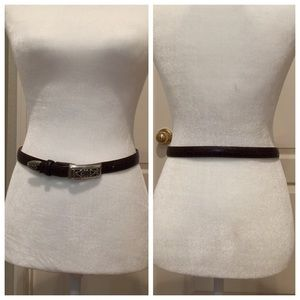Brighton Accessories - Beautiful Brighton Brown leather belt size small