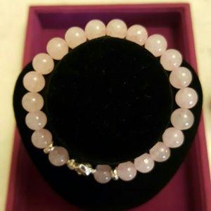 $25 new natural stone beads bangle silver Buddha