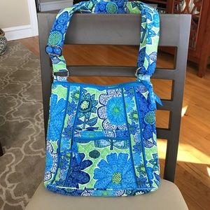 Blue and green Vera Bradley cross body bag