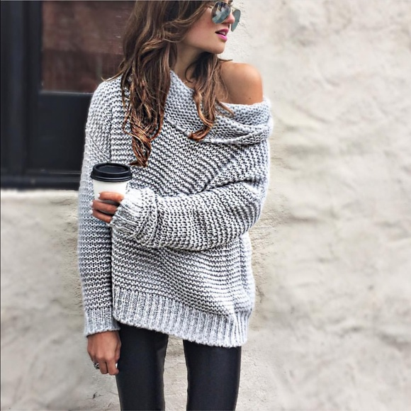 Cotton On Sweaters Off Shoulder Cowl Neck Sweater Poshmark