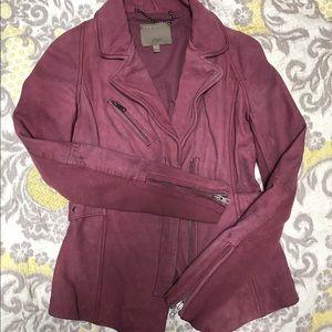 Muubaa Jackets & Blazers - Amazing LILAC MUUBAA leather jacket sz 2