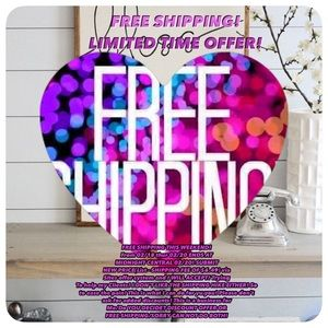 NOTICEFREE SHIPPING OFFER! Limited time only!