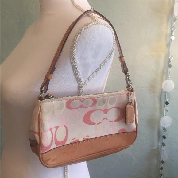 59 Off Coach Handbags Coach Purse Mini Baby Pink