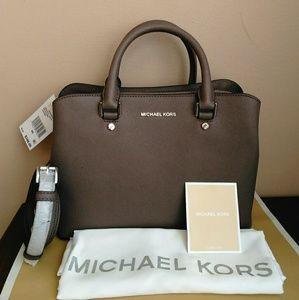 (SOLD) Michael Kors Savannah Gray Cinder color NWT