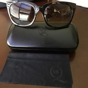 McQ Alexander McQueen Accessories - NWOT MCQ tortoise sunglasses with case.
