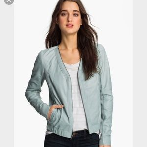 Trouve Jackets & Blazers - Trouve Zip Neck Leather Bomber