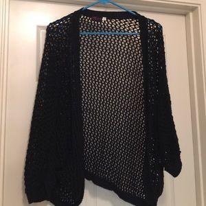 Netted Black Torrid Sweater