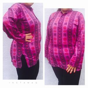 Tops - OM PRINTED TUNIC TOP