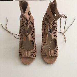 Shoe mint lace up sandals