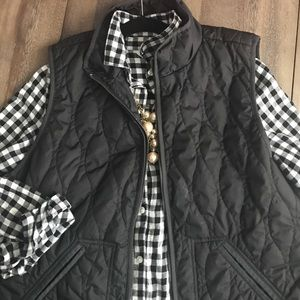 Old Navy | Quilted Vest in Black
