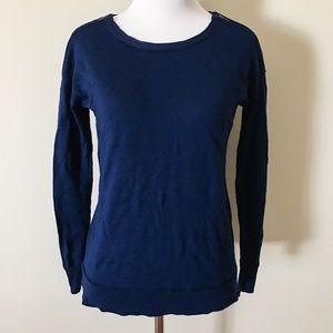 J. Crew Sweaters - J. Crew Merino Zip-Shoulder Sweater in Navy