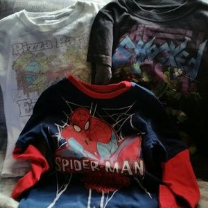 Marvel Other - ☆☆☆3 long sleeve tees ninja turtles spiderman