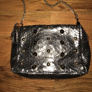Be & D Handbags - Silver and Gold studded cross body bag.