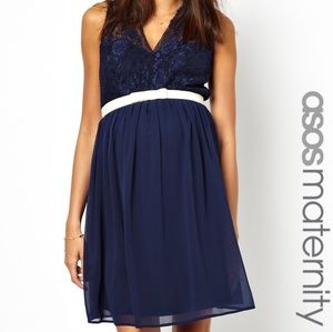 ASOS Maternity Dresses & Skirts - Navy Lace Maternity Dress
