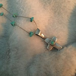 Jewelry - SOLD Vintage Turquoise Cross Necklace