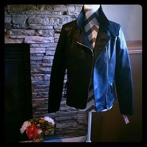 Jackets & Blazers - **Faux Leather Moto Jacket**