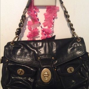 Authentic leather coach handbag