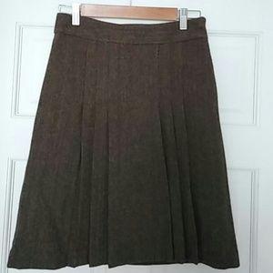 Banana Republic Pleated Wool Skirt
