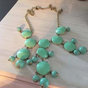 Teal jcrew bubble necklace