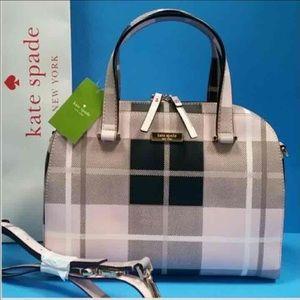 kate spade Handbags - NWT Kate Spade Plaid Satchel