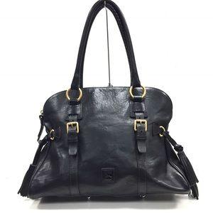 DOONEY & BOURKE Black Leather Large Satchel
