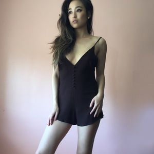Reformation Other - Reformation Plunging Mini Romper