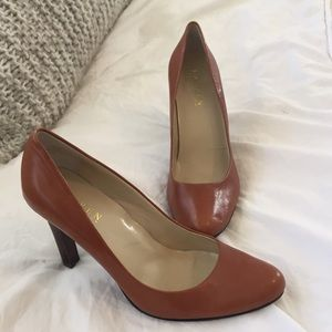 Lauren by Ralph Lauren brown leather heels