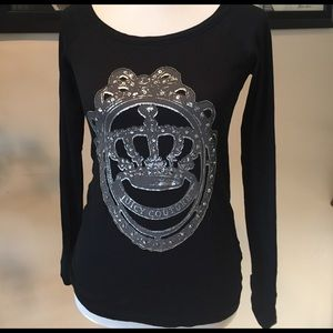 Long sleeve Juicy Couture black top